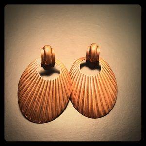 Copper dangling earrings